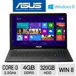 ASUS 15.6 Core i3 320GB HDD Notebook PC