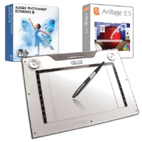 Adesso CYBERTABLETM14 Graphics Tablet &amp; Pen Bundle - More Info