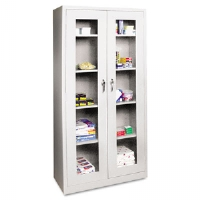 CABINET,SEE-THRU DOOR,LGY - More Info