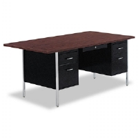 DESK,DBL PED 72X36,BK - More Info