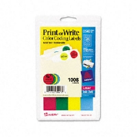 LABEL,.75RND,1008/PK,AST - More Info