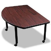 Modular Conference Table, Radius, 63w x 43d x 29-1/2h, Mahogany - More Info