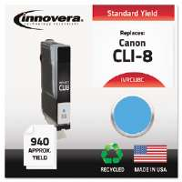 Ink Cartridge Canon CLI-8C, Cyan CLI8C Compatible Ink, 1054 Page-Yield, Cyan