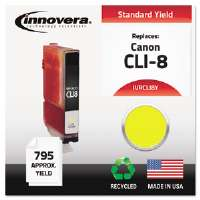 Ink Cartridge Canon CLI-8Y, YW CLI8Y Compatible Ink, 698 Page-Yield, Yellow