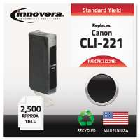Ink Cartridge Canon CLI221B, BK CNCLI221B Compatible Ink, 212 Page-Yield, Black