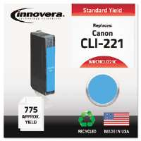 Ink Cartridge Canon CLI221C, CN CNCLI221C Compatible Ink, 617 Page-Yield, Cyan