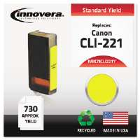 Ink Cartridge Canon CLI221Y, YL CNCLI221Y Compatible Ink, 694 Page-Yield, Yellow