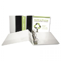 Earth's Choice Biodegradable Round Ring View Binder, 1 Capacity, White - More Info