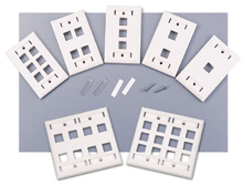 Cables To Go - 1 Three Port Keystone Wall Plate White - More Info