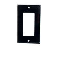 Cables To Go Black Single Gang Wall Plate - More Info