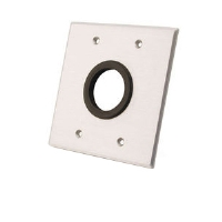 Cables To Go Grommet Double Gang Wall Plate - More Info