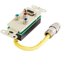 Cables To Go Ivory Component Video Wall Plate - More Info