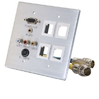Cables To Go Double Gang Integrated Wall Plate