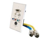 Cables To Go RapidRun Single Gang Wall Plate