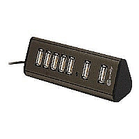 MINI 7PORT USB 2.0 HUB WITH AC - More Info