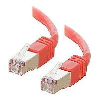 PATCH CABLE RJ-45M/RJ-45M 25FT STP RED - More Info