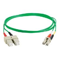 FIBER PATCH CABLE LC-SC DUPLEX MM 1M GRN - More Info