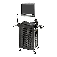 FLAT PANEL CABINET CART W/ TWO SLIDE - More Info
