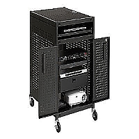 MOBILE 19 RACK MOUNT WELDED PRESENTATION CART. WEL - More Info