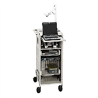 COMPACT, ALL-IN-ONE PRESENTATION CART.  LOCKABLE W - More Info