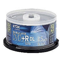 25PK 8.5GB TDK 8X DVD+R-DL SPINDLE - More Info