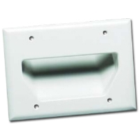 DATACOMM 45-0003-WH 3-Gang Recessed Plate - White for sale Now