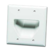 DATACOMM 45-0002-WH 2-Gang Recessed Plate - White for sale Now