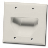DATACOMM 45-0002-LA 2-Gang Recessed Plate - Almond for sale Now