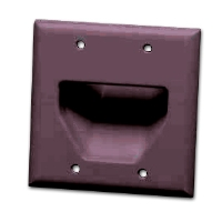 DATACOMM 45-0002-BR 2-Gang Recessed Plate -  Brown for sale Now