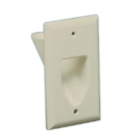 DATACOMM 45-0001-LA 1-Gang Recessed Plate - Almond for sale Now
