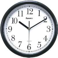 ADV 10 BLK PLASTIC WALL CLOCK - More Info