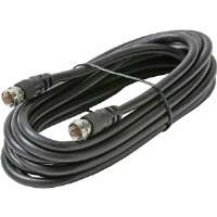 Steren  1' RG-59 Cable With F Connectors - Black