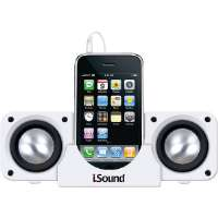 i.Sound  White 2x Portable Speaker System for sale Now