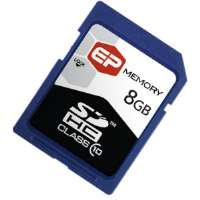 EP Memory 8GB SDHC (Secure Digital High Capacity) Class 10 Cards for sale Now