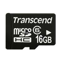 Transcend 16GB microSD High Capacity (microSDHC) Card - Class 6 for sale Now