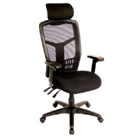 interion Office Chair with Headrest & Arm Rests - More Info