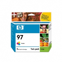 HP 97 Tri-color Inkjet Print Cartridge Twin Pack - More Info