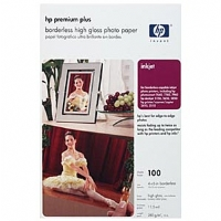 HP Premium Plus High Gloss 4x6 Photo Paper - 100 sheets