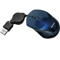 Inland Mini Retractable Mouse - Blue - More Info