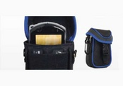 PSP/PSP Go Travel Case (black with blue trim) NLA