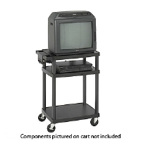 Safco 8933BL Adjustable Plastic AV/TV Cart - More Info