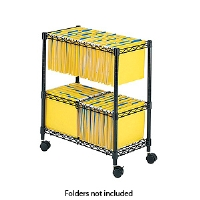 Safco 5278BL 2-Tier Rolling File Cart - More Info