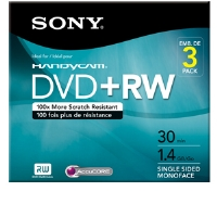 Sony 3 Pack 2X Mini DVD+RW - More Info