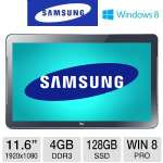 Samsung ATIV Smart PC 500TC Convertible Laptop - Windows 8 Pro 64-bit, 1.7GHz Intel Core i5 3317U, 4GB DDR3, 128GB SSD, 11.6 LED Touchscreen, Micro HDMI, AT&T Locked Carrier  - XE700T1C-HA1US