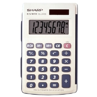 Sharp EL-243SB Basic Twin Powered Calculator - More Info