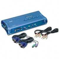 TRENDnet - TK-408K - 4-Port PS/2  KVM Switch with Audio for sale Now