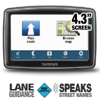 TomTom XL350M 4.3 GPS w/Lifetime Map Updates - More Info