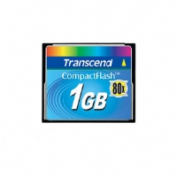Transcend 1GB Compact Flash Card - 80X (TS1GCF80) for sale Now