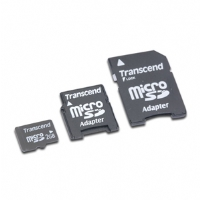 Transcend - 2GB MicroSD Card With 2 SD Adapters - More Info