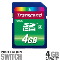 Transcend TS4GSDHC4 SDHC Flash Card - More Info